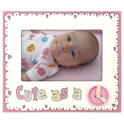 CUTE AS A BUTTON Baby PINK by Malden Design - 4x6 - 1