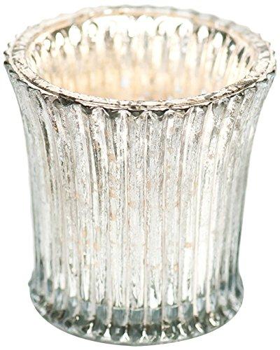 Insideretail Vintage Fluted Glass Votive, 6.5Cm By 6.5Cm, Set Of 6
