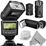 Altura Photo E-TTL Flash Kit for CANON DSLR Rebel T6i, T6s,T5i, T4i, T3i, T2i, T1i, T5, T3, XT, XSi, XSi, EOS 70D, 60D, SL1- Includes: Altura Photo E-TTL Auto-Focus Dedicated Speedlite Flash (AP-C1001) + Wireless Flash Trigger with Remote Control Function + Cable-C Cord + Protective Pouch + Hard Flash Diffuser + MagicFiber Microfiber Lens Cleaning Cloth