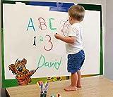 【栄屋美原堂】上手におえかき 貼ってはがせるホワイトボード+ペン+クリーナ 3点セット 子供部屋 お教室に!