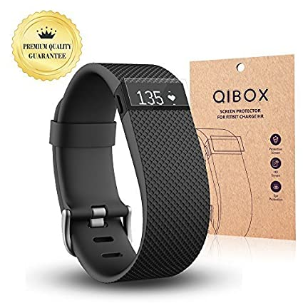 Fitbit-Charge-HR-Screen-Protector-(10-Pack)-QIBOX-Premium-Clear-Shatterproof-Screen-Protector-for-Fitbit-Charge-HR-Wireless-Activity-Wristband,-Anti-Fingerprint-&-Anti-Scratch-Film-Cover