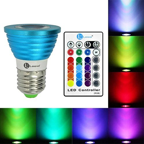 lonove® Farbwechsel 3W RGB LED Spot Light Lampe IR Fernbedienung E27