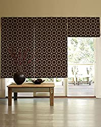 PRESTO BAZAAR 1 Piece Polyester & Cotton Geometrical Blind - Brown