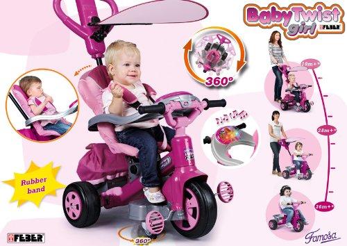 Imagen 12 de FEBER - Triciclo Baby Twist Niña (Famosa) 800007099