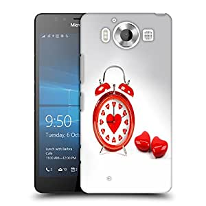 Snoogg Alarm Of Love Designer Protective Back Case Cover For NOKIA LUMIA 950