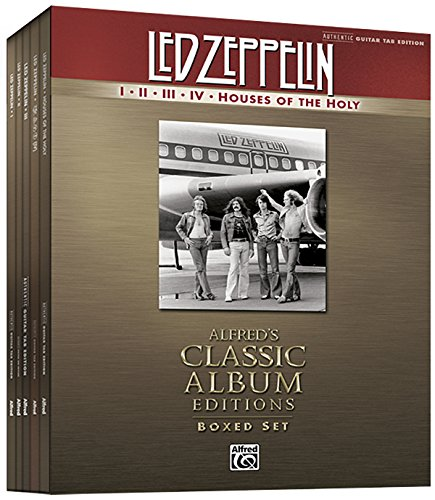 Led Zeppelin Classic Album Edition Box Set (I, Ii, Iii, Iv, Houses Of The Holy) Authentic Guitar Tab Editions (Alfred'S Classic Album Editions)