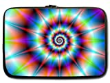 """13"""" Twin Sides with Colourful Tie Dye Laptop Slipcase Bag Sleeve Cover Carry Case"""