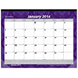 Brownline 2014 Monthly Desk Pad, Tapestry Design, 17.75 x 10.87 Inches (C195113)