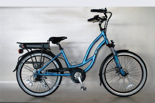 EG Maui Beach Cruiser Electric Bike - Glossy Metallic Electric Blue