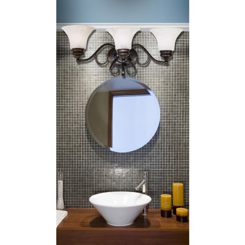 Kenroy Home 91393BBZ Wynwood 3-Light Vanity, Burnished Bronze