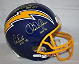 DAN FOUTS, CHARLIE JOINER, AND KELLEN WINSLOW SAN DIEGO CHARGERS COMBO AUTOGRAPHED REPLICA HELMET at Amazon.com