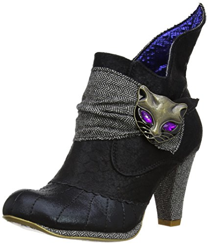 Irregular Choice - Stivali, Donna, Multicolore (Black/Grey), 37 (4 uk)