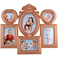 Archie Plastic And Glass Family Photo Frame (49 Cm X 43 Cm X 4 Cm, Brown)