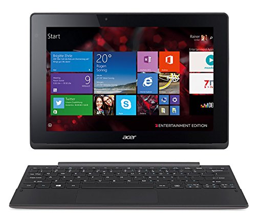 Acer Aspire Reversal 10 E Pro7 2in1 Entertainment Edition (SW3-013) 25,6 cm (10,1 Zoll HD IPS) Convertible Notebook (Intel Atom Z3735F, 1,8GHz, 2GB RAM, 32GB eMMC, Intel HD Graphics, Win 8.1) grau