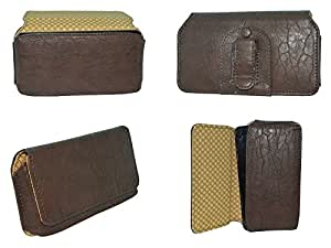 Totta Universal Pu Leather Belt Pouch For Gionee S8, Brown