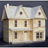Real Good Toys Real Good Toys Country Farmhouse Kit - 1/2 Inch Scale, Beige, Medium Density Fiberboard