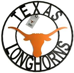 NCAA Texas Longhorns Collegiate Wrought Iron Wall Decor, 18-Inch, Black with Texas Burnt Orange