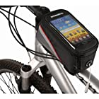 Aokdis Cycling Bike Bicycle Frame Front Tube Bag Phone Case For iPhone 4/4S 5 (black and red)
