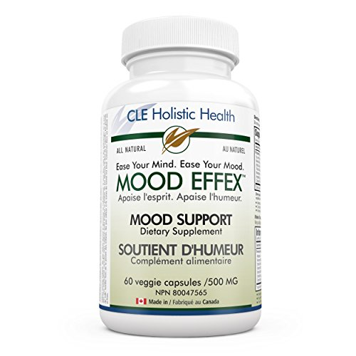 CLE Holistic Health Mood Effex - Advanced Anti-Anxiety and Depression Dietary Supplement - All Natural and Organic Ingredients - Proprietary Blend for Stress Relief and Mood Enhancement and Support - 60 Veggie Capsules (Albizzia Extract compare prices)