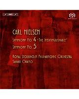 ニールセン : 交響曲第4番 「不滅」 , 交響曲第5番 (Carl Nielsen : Symphony No.4 'The Inextinguishable' , Symphony No.5 / Royal Stockholm Philharmonic Orchestra , Sakari Oramo) [SACD Hybrid] [輸入盤]