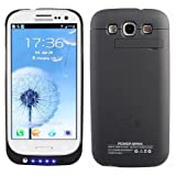 Samsung Galaxy S3 i9300 External (3200 mAh) Battery Power Pack Case (With Media Kick Stand) (Black) + Free Screen... by AGadget