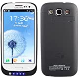 Samsung Galaxy S3 i9300 External (3200 mAh) Battery Power Pack Case (With Media Kick Stand) (Black) + Free Screen Protector