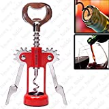 NEW Antique Bottle Can Opener with Corkscrew for Wine Beer Soda Red Wine Bottles OPENER for Outdoor & Travel - 02