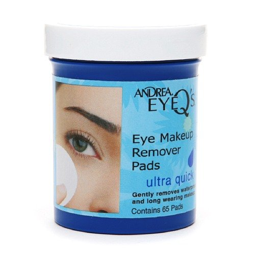 Andrea EyeQ's Eye Make-Up Remover Pads, Ultra Quick 65 ea