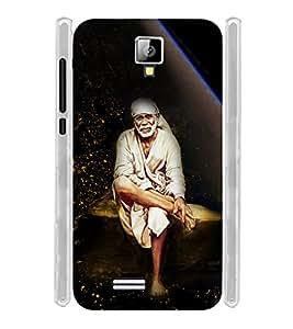 Lord Shirdi Sai Baba Bagwan Ji Soft Silicon Rubberized Back Case Cover for Celkon Campus Prime