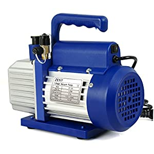 ZENY 4CFM/5CFM 1/3HP Electric Vacuum Pump Refrigerant R410a R134a HVAC Deep Vane Air Conditioner w/1/4 Flare Inlet Port by ZENY