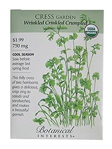 Garden Cress Certified Organic Heirloom Seeds