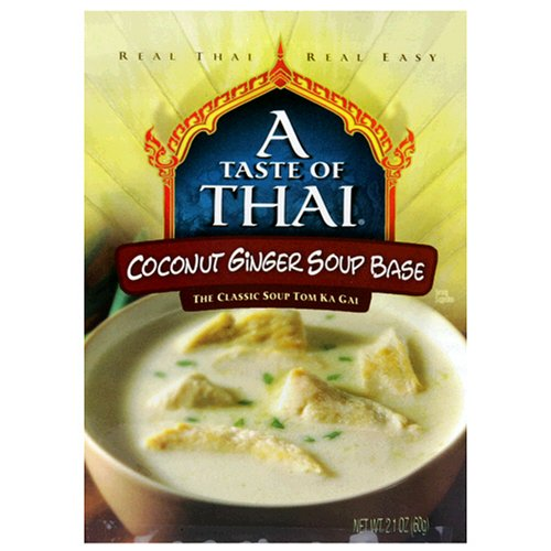 A Taste of Thai Coconut Ginger Soup Base, 2.1-Ounce Packets (Pack of 12)