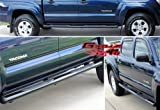 Fits 2005-2014 Toyota Tacoma Double Cab 4''Black Side Step Nerf Bars