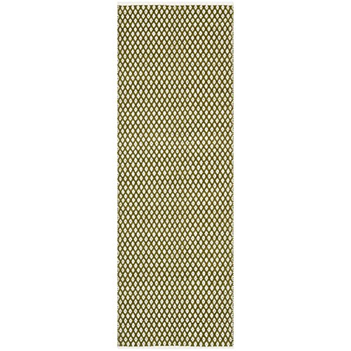 Safavieh Boston Collection BOS685B Handmade Olive Cotton Runner, 2 feet 3 inches by 7 feet (2'3