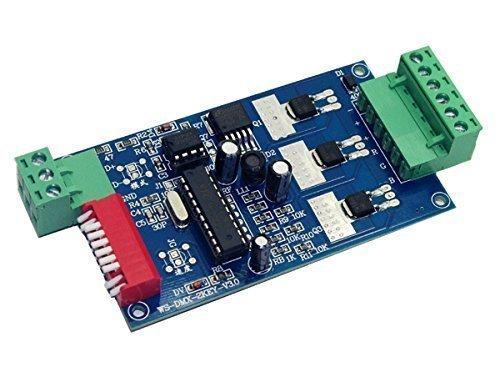 3 Channel RGB Device DMX512 Controller Driver DMX Decoder 15A For RGB Led CMOS Drain-Open Output