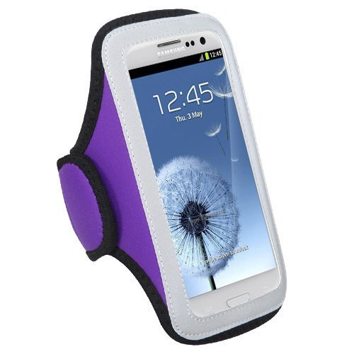 Mybat Univp257Np Sport Armband Case For Cell Phones And Smartphones - Retail Packaging - Purple