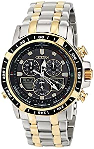 Citizen Watch Sailhawk Men's Quartz Watch with White Dial Analogue Display and Black Stainless Steel Bracelet JR4054-56E
