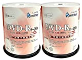 SMART BUY DVD-R 200枚 SR47-20X100PW 1回録画用 ワイドプリント対応 20倍速 抗菌仕様