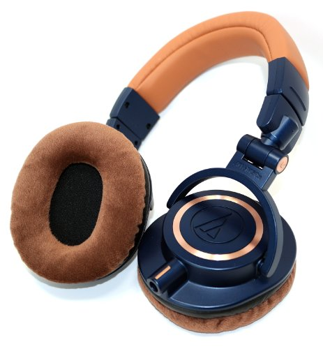 Ath-M50Xbl-Earpads - One Pair Brown Velvet Ear Pads For Ath-M50Xbl Headphones - Also Fits Ath-M20X, Ath-M30X, Ath-M40X, Ath-M50, Ath-M50S, Ath-M50Rd, Ath-M50Wh, Ath-M50X, Ath-M50Xwh