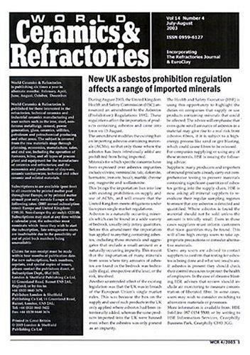 World Ceramics & Refractories