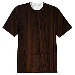 Snoogg Dark Wood Textures Mens Casual All Over Printed T Shirts Tees