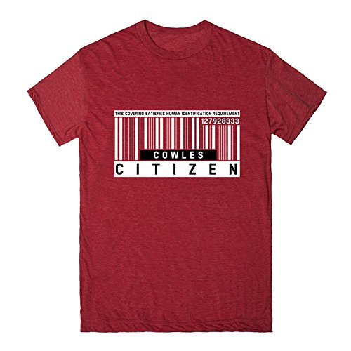 Cowles, Citizen Barcode   3XL Heathered Red T-Shirt (Cowles Red compare prices)