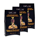 Cafe De Lya Milk Chocolate Covered Medium Roasted Gourmet Coffee Beans (3-Pack, Boxes of 5 oz each) ~ Sweets