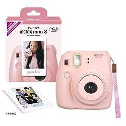 Fuji Instax Mini 8 N Pink + Original Strap Set Fujifilm Instax Mini 8N Instant Camera