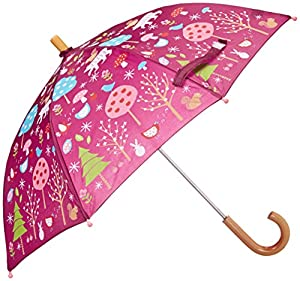 Hatley Little Girls'  Umbrella - Winter Forest, Red, One Size
