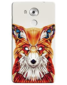Omnam Coloful Wolf Printed Designer Back Cover Case For Huawei Honor Mate 8