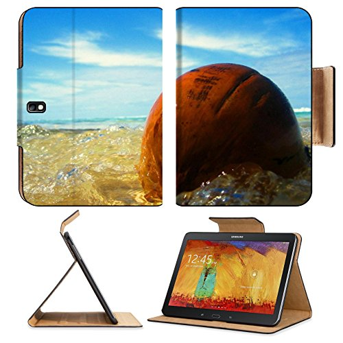 Ocean Waves Washing Over Stone Samsung Tab Pro 10.1 Flip Case Stand Smart Magnetic Cover Open Ports Customized Made To Order Support Ready Premium Deluxe Pu Leather Msd Professional Graphic Background Covers Designed Model Folio Sleeve Hd Template Designe