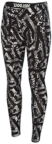 Nike Women's Leg A See All Over Printed Casual Tights-Black/White-Small