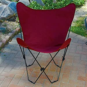 Maroon Red Replacement Cover For Retro Folding Butterfly Chair