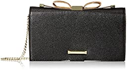 Anne Klein Time To Indulge Convertible Clutch, Black, One Size